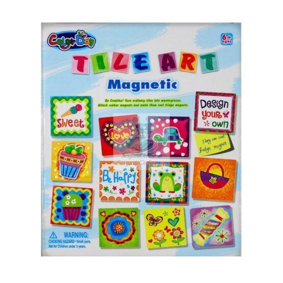 Tile magnet ceramica de pictat liber
