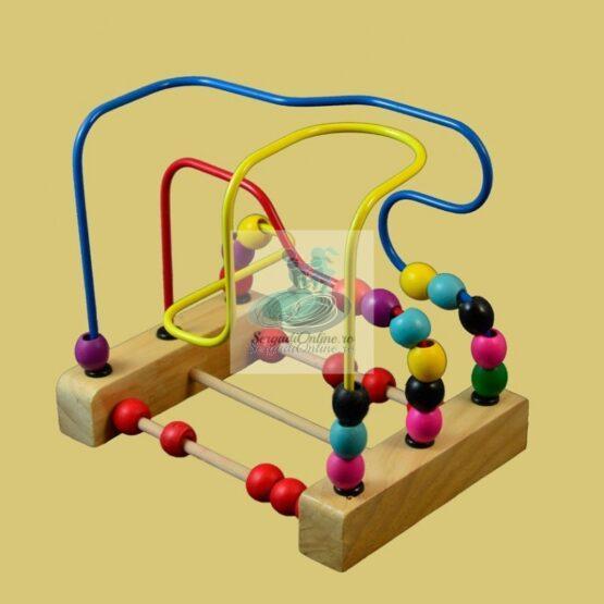 Joc Labirint Circuit Bile lemn