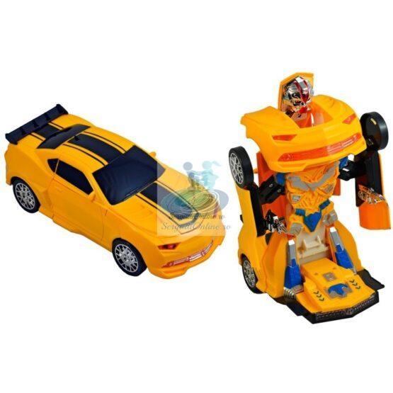 Masinuta Transformer Robot Galbena
