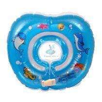 Colac de gat bebelusi desen marin - albastru