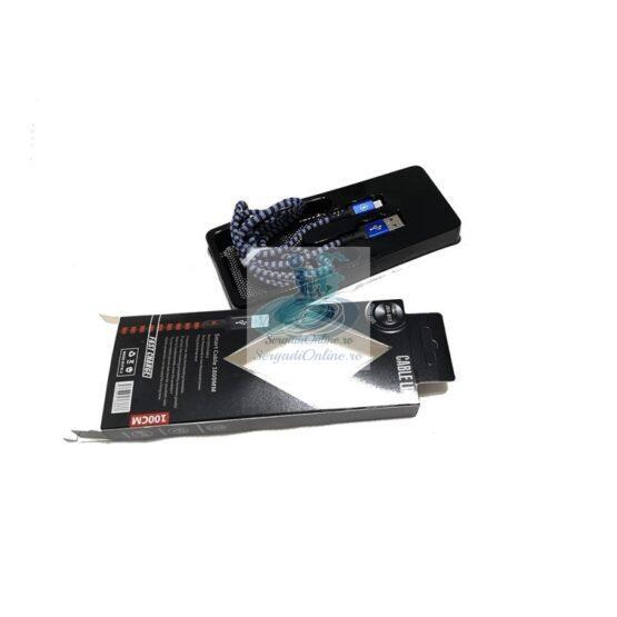 Cablu incarcare-date micro USB JKH-012 Textil