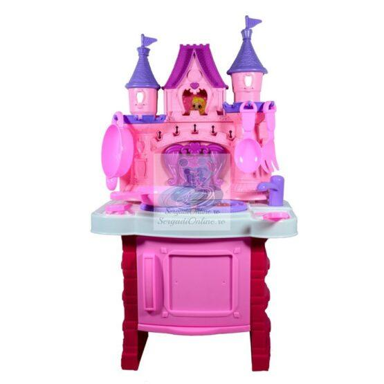 Set Bucatarie Castel Sunete si Muzica Roz