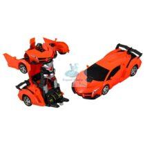 Masinuta Transformer Robot Portocalie