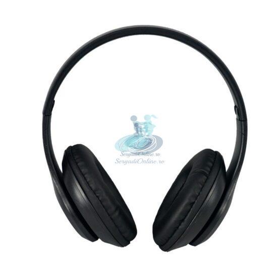 Casti Bluetooth cu Microfon si Radio P15 Negre