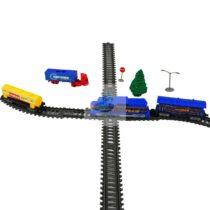 Trenulet cu macaz lumina vagoane camion semne circulatie
