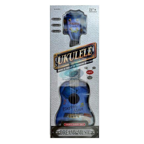 Chitara ukulele albastru - jucarie cu sunete reale