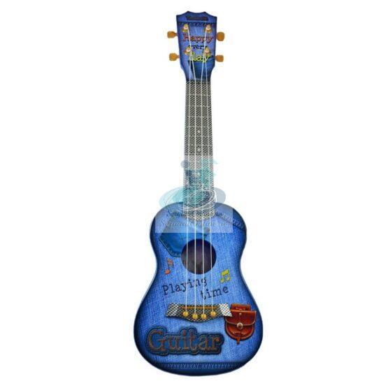 Chitara ukulele albastru – jucarie cu sunete reale