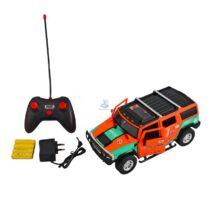 Masina de teren portocalie tip Hamer cu telecomanda si acumulatori - 30 cm