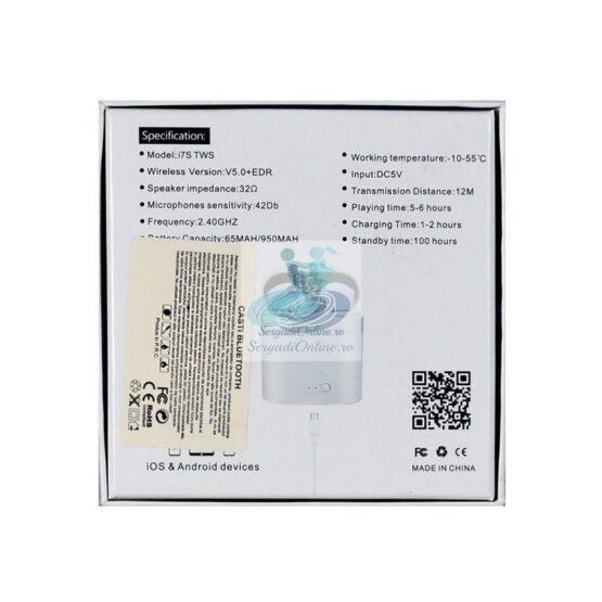 Casti Bluetooth cu Microfon Albe gen EarBuds