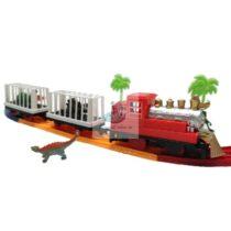 Trenulet electric cu dinozauri si decor palmieri