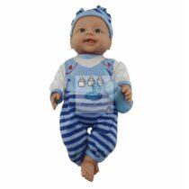 Papusa bebelus bleu 42 cm vorbeste si canta in limba romana