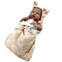 Papusa Bebe Nou Nascut roz cu scutecel de dormit