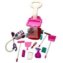 Carucior curatenie pentru copii cu accesorii functionale