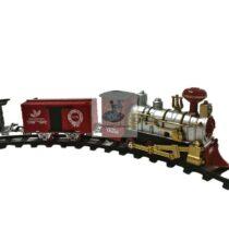 Trenulet electric cu bariera, gara si decoruri