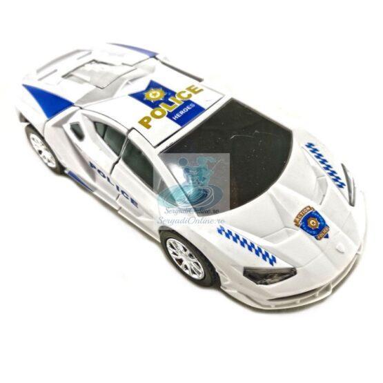 Masina Politie Transformers 22 cm cu lumini si sunete