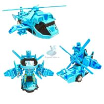 Elicopter Albastru Transformers 22 cm cu lumini si sunete