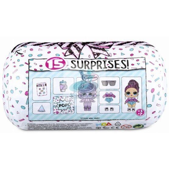 Papusa L.O.L. Surprise Confetti Present 15 Surprize