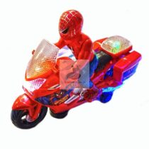Spiderman pe motocicleta cu sunete si lumini