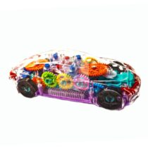 Masinuta Carcasa Transparenta si Interior Multicolor cu lumini si sunete