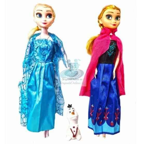 "Set papusi Anna, Elsa 28 cm  si Olaf  canta melodia ""Let it Go"""