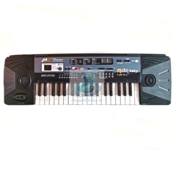 Orga muzicala copii cu 37 clape, microfon, 16 tonuri si muzica demo