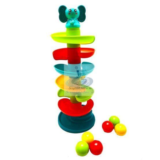 Tobogan turn cu bile colorate