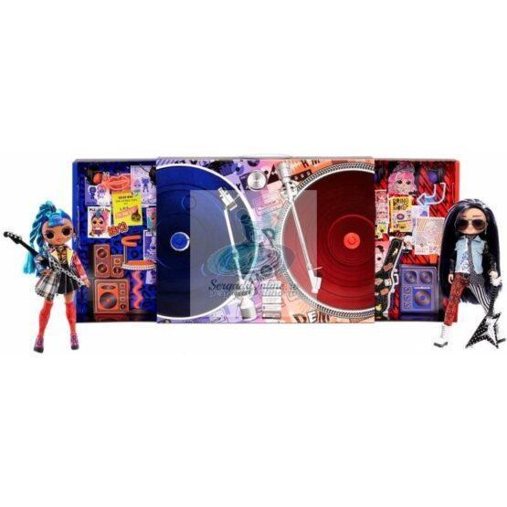 L.O.L. Surprise O.M.G. Remix Rocker Boi and Punk Grrrl  -2 Fashion Dolls with Music