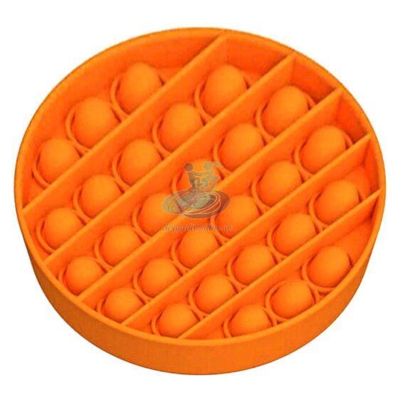 Jucarie antistres POPIT din silicon 12 cm – portocalie – rotunda