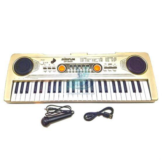 Orga muzicala copii cu 49 clape, microfon, 16 tonuri, 8 ritmuri si muzica demo