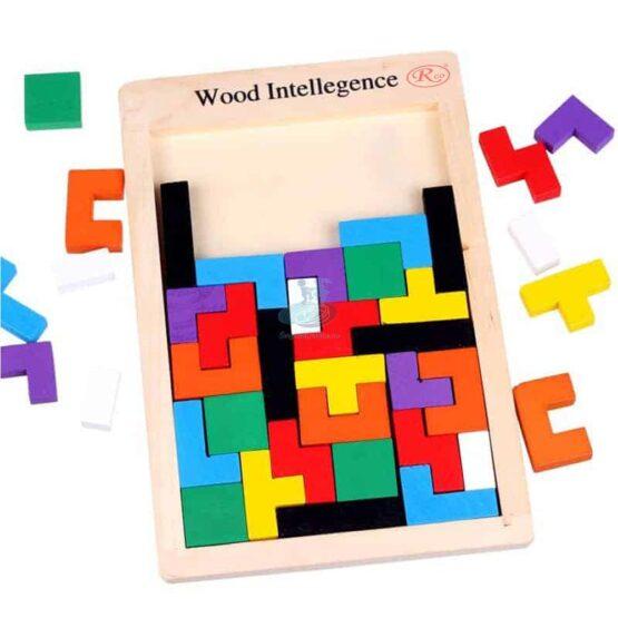 Joc educativ Tetris din lemn