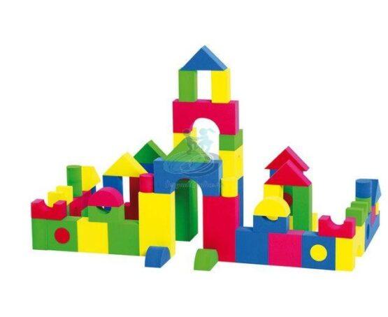 Set 52 cuburi din burete (spuma) de constructie EB1008