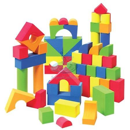 Set 105 cuburi din burete (spuma) de constructie EB1013