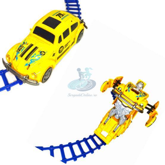 Masinuta Taxi Transformers 18 cm cu sunete