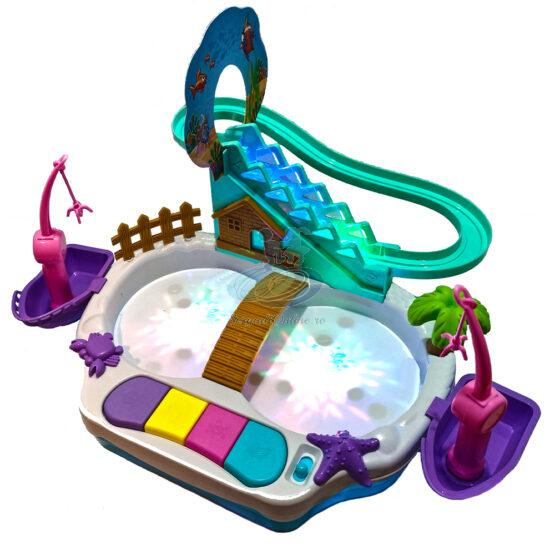 Joc pescuit 3 in 1 cu apa, muzica si lumini 3D
