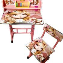 birou-cu-scaunel-roz
