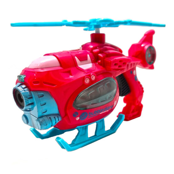 Elicopter 25 cm cu lumini si sunete care face baloane