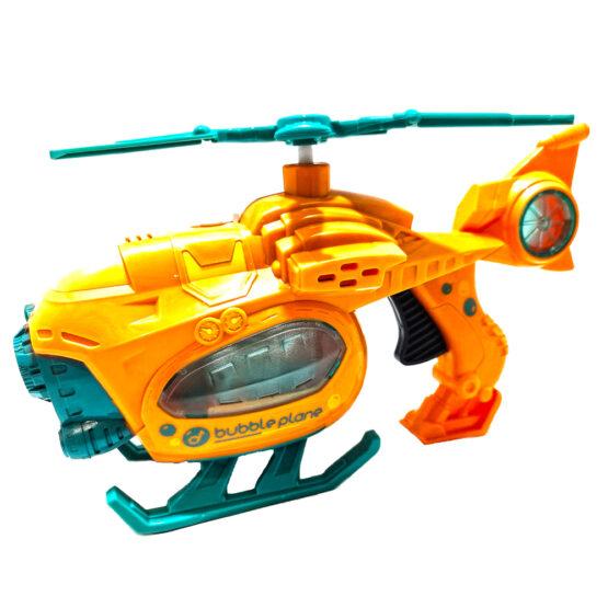 Elicopter 25 cm cu lumini si sunete care face baloane portocaliu